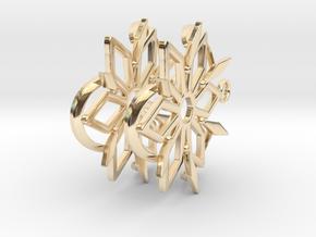 Dancing Shards Earrings in 14k Gold Plated Brass