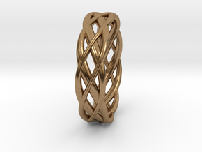 ring Double Braid in Natural Brass: 8 / 56.75