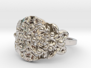 Roots Ring in Rhodium Plated Brass: 7 / 54