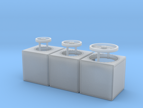 1:48 100 Gallon Ship Tank Set of 3 in Frosted Ultra Detail