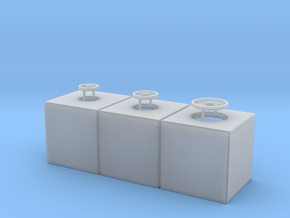 1:48 400 Gallon Ship Tank Set of 3 in Frosted Ultra Detail