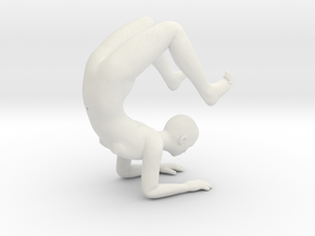 Yoga Scorpion Pose Phone Stand - 1.5mm Thickness in White Natural Versatile Plastic
