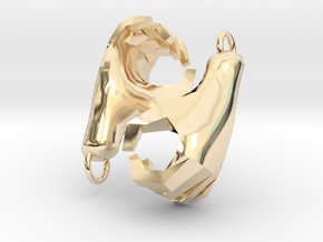 Hands Charm in 14k Gold Plated Brass