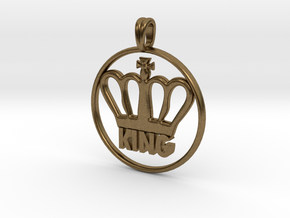 KING Crown Symbol Jewelry necklace in Natural Bronze