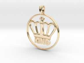 KING Crown Symbol Jewelry necklace in 14k Gold Plated Brass