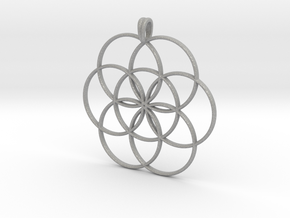 SEED OF LIFE Sacred Geometry Symbol Necklace in Aluminum