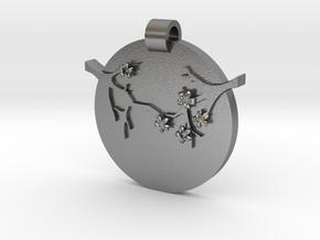 Blossom Pendant  in Natural Silver