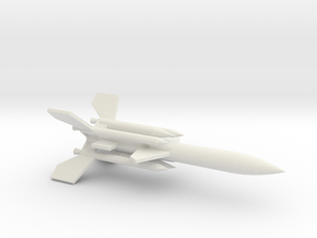1/144 Scale UK Bloodhound SA Missile in White Natural Versatile Plastic