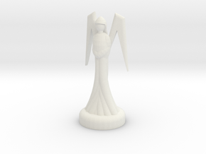 Chess Queen in White Natural Versatile Plastic