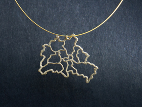 Berlin Pendant in Raw Brass