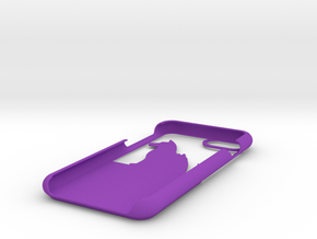 Cat And Dog Wallet Case for iphone 7 in Purple Strong & Flexible Polished