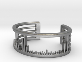 Mass Spectrum Bracelet - Science Jewelry in Natural Silver: Large