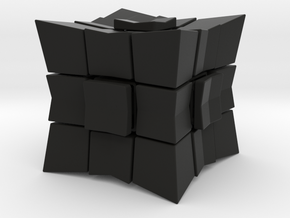 Cube inward 3*3*3 (without spider) in Black Strong & Flexible