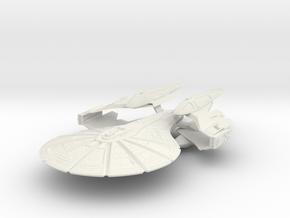 Archer Class X Battleship in White Natural Versatile Plastic