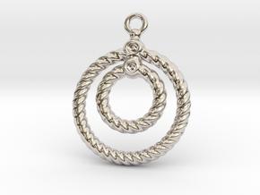 Corrugated Earring in Platinum