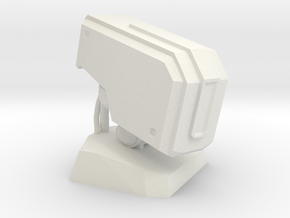 Bastion Head Bust in White Natural Versatile Plastic