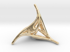 Curlicue 4-sided Dice in 14k Gold Plated Brass