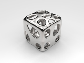 Organic Dice in Polished Silver