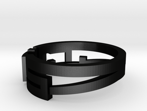 CAAD RING in Matte Black Steel: Medium