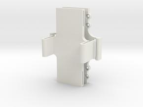 LIPO Battery Quick release Holder in White Natural Versatile Plastic