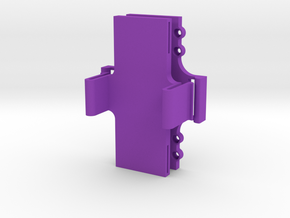 LIPO Battery Quick release Holder in Purple Strong & Flexible Polished