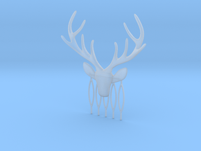 Stag with antlers comb hairpin in Smooth Fine Detail Plastic