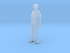 1/24 Modern Wear Curly Hair Man Standing 1.8 m  in Smooth Fine Detail Plastic