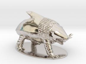 Bulette Miniature in Rhodium Plated Brass: 1:60.96
