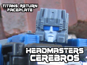 Cerebros, Headmasters Style (Titans Return) in Smooth Fine Detail Plastic