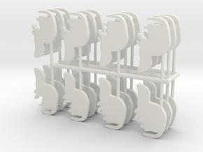 Standing Ferret Spru x 24 in White Natural Versatile Plastic