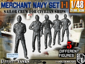1-48 Merchant Navy Crew Set 1-1 in Frosted Ultra Detail