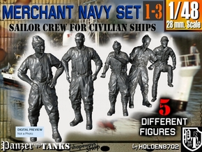1-48 Merchant Navy Crew Set 1-3 in Frosted Ultra Detail