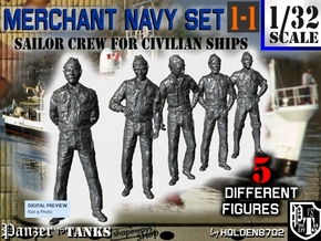 1-32 Merchant Navy Crew Set 1-1 in Smooth Fine Detail Plastic