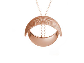 EYE pendant in 14k Rose Gold Plated