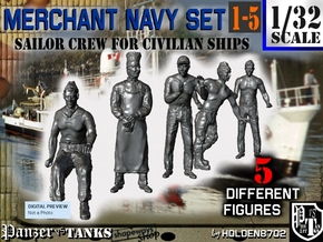 1-32 Merchant Navy Crew Set 1-5 in Frosted Ultra Detail