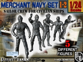 1-24 Merchant Navy Crew Set 1-2 in White Natural Versatile Plastic
