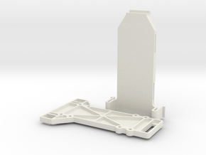 lipo Battery holder in White Natural Versatile Plastic