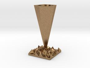 Vase in Natural Brass