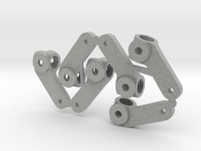 Rubber Tire Steering Arm in Metallic Plastic