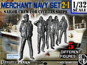 1-32 Merchant Navy Crew Set 2-1 in Frosted Ultra Detail