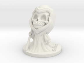 Chibi Grim in White Natural Versatile Plastic
