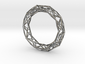 """Geometric bracelet """"Constructionist"""" in Polished Silver"""