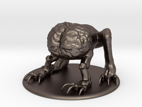 Intellect Devourer Miniature in Polished Bronzed Silver Steel: 1:60.96