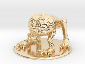 Intellect Devourer Miniature in 14k Gold Plated Brass: 1:60.96