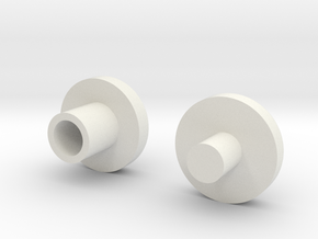 Bearing Plugs in White Strong & Flexible