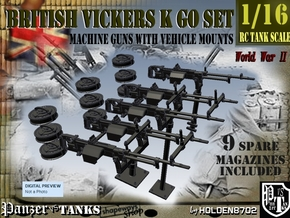 1-16 Vickers K GO SET in Smooth Fine Detail Plastic