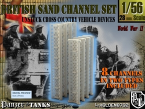 1-56 British Sand Channel Set in Smooth Fine Detail Plastic