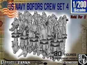 1-200 US Navy Bofors Crew Set 4 in Frosted Extreme Detail