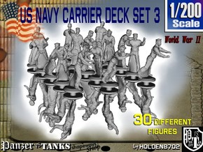 1-200 US Navy Carrier Deck Set 3 in Smoothest Fine Detail Plastic