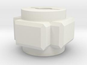 Yokomo YD2 geardiff blocking unit in White Natural Versatile Plastic